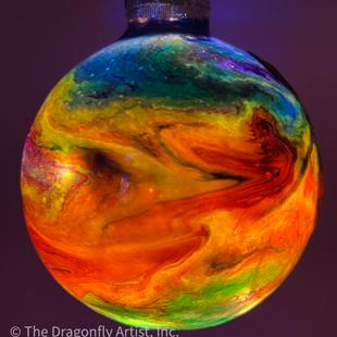 Art: Light Up & Glow Magical Dragonfly Ball #1393049 by Artist Rebecca M Ronesi-Gutierrez