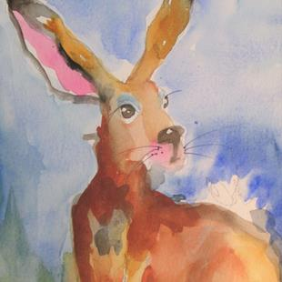 Art: Rabbit No. 5 by Artist Delilah Smith