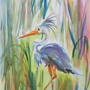 Art: Blue Heron No. 7 by Artist Delilah Smith