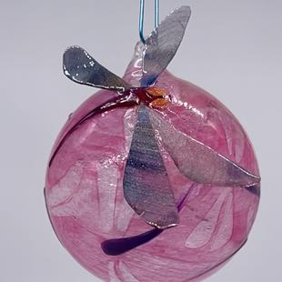 Art: Sculpted Wings Dragonfly Ball Pink #1393073 by Artist Rebecca M Ronesi-Gutierrez