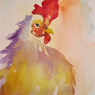 Art: Chickens No. 67 by Artist Delilah Smith