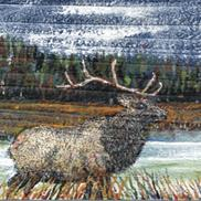 Art: Elk Painting by Leonard G. Collins by Leonard G. Collins
