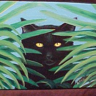 Art: Jungle Kitty by Artist Rosemary Margaret Daunis