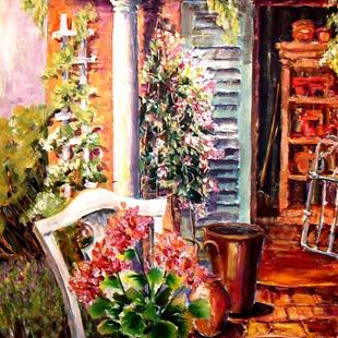 Art: Potting Shed - SOLD by Artist Diane Millsap