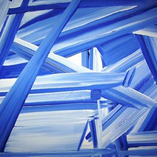 Art: Blue Construction by Artist Gallery Elite