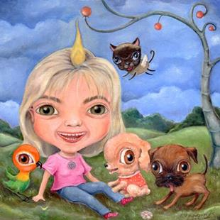 Art: Carey & Friends by Artist Vicky Knowles