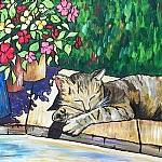 Art: Cat Nap by Artist Melanie Douthit
