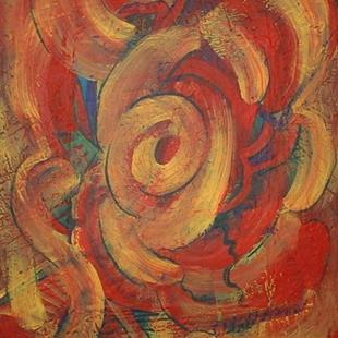 Art: Abstract  Rose by Artist Virginia Kilpatrick