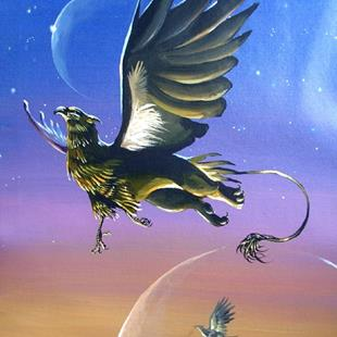 Art: Gryphon in Flight by Artist Nico Niemi