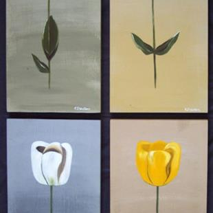 Art: FLOATING TULIPS by Artist Christa Jule Art