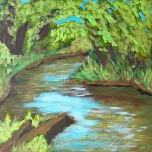 Art: Riverbend (en plein air) by Artist Amie R Gillingham
