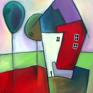 Art: Our House (In the middle of the street) - Home 27 by Artist Thomas C. Fedro