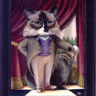 Art: Chandler Le Chat by Artist Madeline  Carol Matz