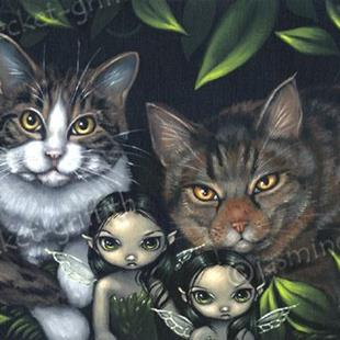Art: Pixie Cats by Artist Jasmine Ann Becket-Griffith
