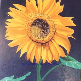 Art: Sunflower on Cornflower by Artist