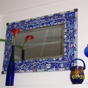 Art: Mum's Mirror Frame by Artist Dorothy Edwards