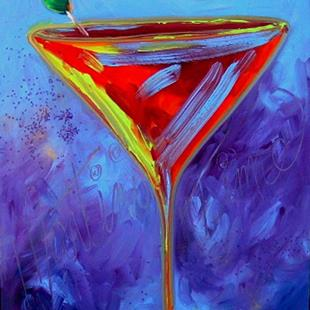 Art: Martini Time by Artist Deborah Sprague