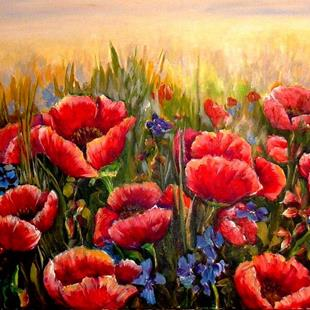 Art: Poppy Field - SOLD by Artist Diane Millsap