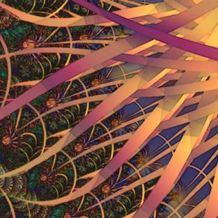 Art: Tendrils of the Sun by Artist Carolyn Schiffhouer