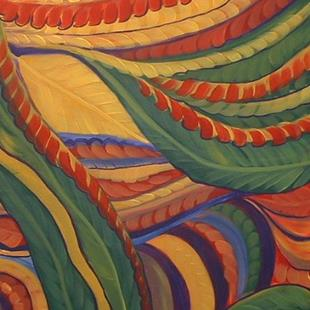 Art: Abstract Leaves by Artist Virginia Kilpatrick