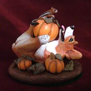 Art: Corgi In The Pumpkin Patch by Artist Camille Meeker Turner